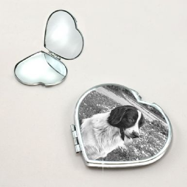 Pet Photo on Compact Mirror | Someone Remembered